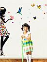 väggdekorationer väggdekaler, färg fjäril dröm prinsessa pvc väggdekorationer