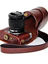 Digital Kamera-Fodral- tillFujifilm-En-axel- medDammsäker-Svart Kaffe Brun