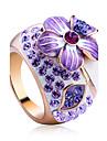 Pentru femei Cristal Inel de declarație - Aliaj Floare Lux, Modă O Mărime Pentru Petrecere