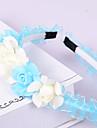 Femei Fata cu Flori Organza Plastic Diadema-Nuntă Ocazie specială Informal Birou & carieră Exterior Cordeluțe 1 Bucată
