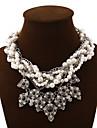 Dame Coliere Coliere Layered Cristal Pietre sintetice Perle Aliaj La modă Cute Stil Multistratificat bijuterii de lux European Bijuterii