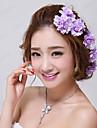 purpuriu purpuriu floral nunta / petrecere bridal (3 piese / set) elegant stil