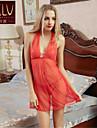Feminin Capoate / Ultra Sexy Pijamale Organza Solid Roșu