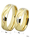 Bărbați Pentru femei Inele Cuplu Band Ring Iubire stil minimalist Ștras Oțel titan Circle Shape Costum de bijuterii Nuntă Petrecere Cadou