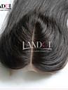8-20 Spetsfront Kroppsvågor Mänskligt hår Stängning Ljusbrunt Schweizisk spets 30-55 gram Mösstorlek