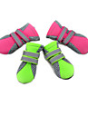 Cat Dog Boots / Shoes Waterproof Solid Colored Green Pink For Pets / Winter