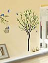 stickers muraux murales oiseaux de style de decalcomanies et cage a oiseaux sur les arbres pvc stickers muraux