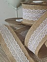Culoare solidă Jute Panglici de nunta - 5M Piece / Set Panglică Țesută Arc Cadou Suport cu decorațiuni pentru favoruri Cutie cadouri