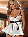 Ärmlös KVINNOR Kostymer ( Bomullsblandning )med V-ringad i Sexig stil