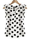 Pentru femei Mărime Plus Size Bluză Buline Mâneci Fluture, Bufantă / Vară / Volane și Franjuri
