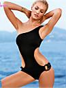 FEMEI - Costum de baie (Acrilic/Poliester) Vintage/Sexy/Mulat/Plajă Un umăr