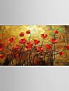 HANDMÅLAD Stilleben Blommig/Botanisk Moderna En panel Kanvas Hang målad oljemålning For Hem-dekoration