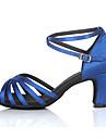Pentru femei Pantofi Dans Latin / Pantofi Salsa Satin / Mătase Toc Înalt / Sandale Cataramă Toc Personalizat Personalizabili Pantofi de