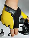Elastisk nylon Tålig Half Finger Handskar 3D design för cykling Cykel (blandade färger, storlek Genomsnittlig)