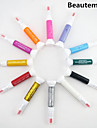 12st 2in1 fin penna nib&nagellack pensel nail art målning penna nail art dekoration kit
