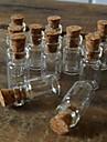 50 pack 18x10mm (heightxdia) 0,5 ml mini clar transparent sticlă de care doresc cu plută top