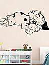 autocolante de perete de perete stil decals câine soporous autocolante de perete pvc