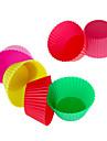 12pcs silicon reutilizabil cupe tort mucegai de copt (culoare aleatorii)