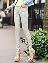 Femei Femei Pantaloni Bodycon/Imprimeu Skinny Bumbac Strech