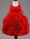 Robe Fille de Fleur Polyester Printemps Eté Automne Sans Manches