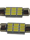 2st carking ™ FESTONG 36mm / 39mm / 41mm 2W 9 * 5630smd 215ml 6000K vitt ljus ledde Rom lampa (DC 12V)