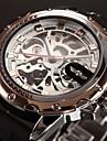 WINNER Bărbați Ceas de Mână ceas mecanic Mecanism automat Gravură scobită Silicon Bandă Luxos Negru Auriu Roz auriu