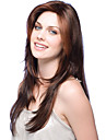Человеческие волосы без парики Натуральные волосы Волнистый Стрижка каскад / С чёлкой Боковая часть Длинные / 62 см Без шапочки-основы Парик Бразильские волосы Жен. / 8A