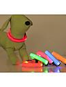 Câine Gulere Lumini LED Ajustabile / Retractabil Mată Nailon Galben Rosu Verde Albastru Roz