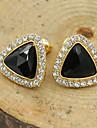 Dame Cercei Stud Cristal La modă European costum de bijuterii Ștras Placat Auriu 18K de aur Diamante Artificiale Cristal Austriac