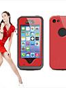 Pentru Carcasă iPhone 5 Rezistent la apă / Anti Praf / Anti Șoc Maska Corp Plin Maska Culoare solida Greu PC iPhone SE/5s/5