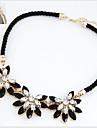 Dame Coliere Choker Coliere Coliere Vintage Flower Shape Floarea Soarelui Aliaj La modă Bijuterii Statement costum de bijuterii Bijuterii