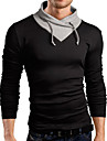Lång ärm - T-Shirts ( Bomullsblandning )till MÄN Rund - Casual