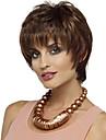 人工毛ウィッグ ストレート ブラウン バング付き Brown 合成 女性用 サイドパート ブラウン かつら ショート キャップレス