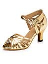 Latin - Pantofi de dans (Argintiu) - Personalizat - Pentru femei