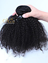 Klämma in Människohår förlängningar Mänskligt hår Afro Sexigt Lockigt 7pcs / Paket 18 tum 20 tum 22 tum 24 tum 26 tum