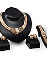Pentru femei Perle Coliere cu Pieptar Seturi de bijuterii / Coliere - 18K Placat cu Aur Declarație, Vintage, Petrecere Coliere Pentru Petrecere / Seară
