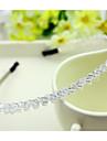 Sydkorea importerade hårnål strass pärlstav huvud hoop dekorationer tvåradiga kristall hårband transparent vit