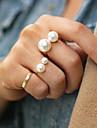 Pentru femei Inel de declarație - Perle, Aliaj Modă O Mărime Auriu / Argintiu Pentru Petrecere
