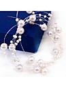 Perla Artificial Cadena de cabeza con 1 Boda / Ocasion especial Celada