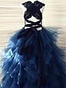 rochie de bal de podea lungime floare fată rochie - tul fără buzunar gât cu dantela de thstylee