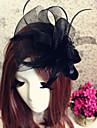 Femei Tul Diadema-Nuntă Ocazie specială Exterior Cordeluțe Pălărioare Flori Pălării/Căciuli 1 Bucată