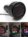 baterie de masina monitor voltmetru pentru 12v și 24V digitale 2in1 termometru -10-80celsius
