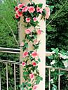 פרחים מלאכותיים 1 ענף פרחי חתונה ורדים פרחים לשולחן