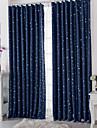Stångficka Hyls-topp Hällor topp Dubbel veckad Två paneler Fönster Behandling Moderna, Tryck Prickig Vardagsrum Polyester Material