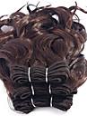Cheveux Brésiliens Bouclé / Tissage bouclé Cheveux Vierges Tissages de cheveux humains 3 offres groupées 8pouce Tissages de cheveux
