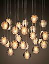 UMEI™ Grappe Lampe suspendue Lumiere d'ambiance - Cristal, 90-240V, Blanc Creme, Ampoule incluse / G4 / 0-5㎡