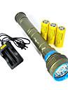 3 LED-Ficklampor LED 10800 LM 3 Läge Cree XM-L2 Stöttålig Uppladdningsbar Vattentät Strike Bezel Taktisk Nödsituation för