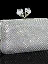 Dam Väskor Annan lädertyp Aftonväska för Guld Svart Silver