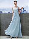 Linia -A Iluzii Lungime Podea Șifon Dantelă Bal / Seară Formală Rochie cu Dantelă de TS Couture®