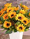 1 Gren Silke Plast Solrosor Bordsblomma Konstgjorda blommor